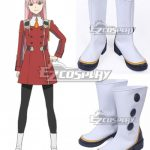 COSS1449 Darling in the Franxx Zero Two Code 002 White Shoes Cosplay Boots - Darling in the Franxx