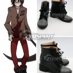COSS1600 Angels of Death Satsuriku no Tenshi Game Zack Black Shoes Cosplay Boots - Angels Of Death