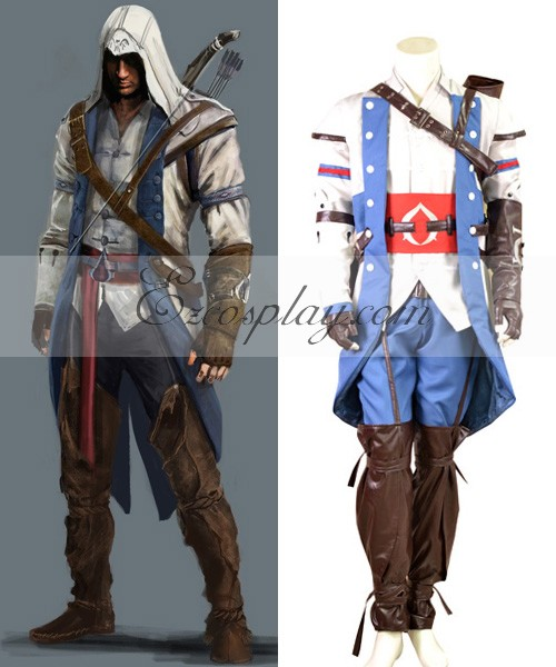 Eac0007 Assassin S Creed Iii Connor Render Cosplay Costume