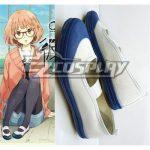 COSS0077 Beyond the Boundary (Kyokai no Kanata) Kuriyama Mirai School Cosplay Blue Shoes - Beyond the Boundary