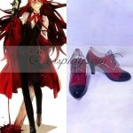 COSS0012 Black Butler Grell Sutcliff Red Butler Shinigami Red Cosplay Shoes - Black Butler