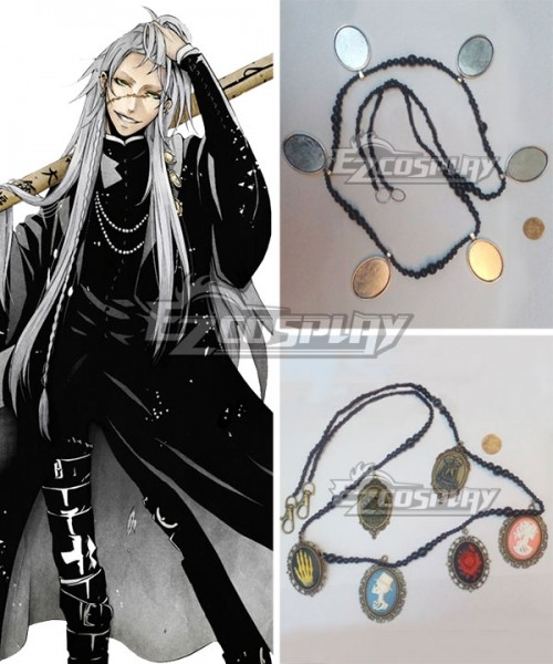 Black Butler Necklace Set Anime Cosplay Jewelry Grell Sebastian License NWT NEW