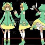 COSS1536 Cardcaptor Sakura: Clear Card Sakura Kinomoto Frog Battle Suit Green Shoes Cosplay Boots - Cardcaptor Sakura: Clear Card