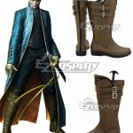 COSS0243 Devil May Cry 3 Vergil Brown Shoes Cosplay Boots - Devil May Cry