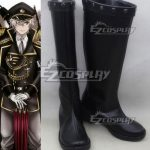 COSS0461 K Return Of Kings Isana Yashiro Black Shoes Cosplay Boots - K RETURN OF KINGS