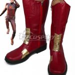 COSS0593 DC Comics The Flash Barry Allen Red Shoes Cosplay Boots - B Edition - D.C