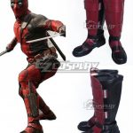 COSS0609 Marvel Deadpool Wade Winston Wilson Red Shoes Cosplay Boots - Deadpool 2