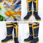 COSS0663 Fairy Tail Dragon Slayers Natsu Dragneel Natsu DoraguniruTeam Natsu New Blue Shoes Cosplay Boots - Fairy Tail