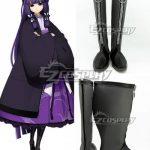COSS0873 XBlaze Code Embryo Mei Amanohokosaka Black Shoes Cosplay Boots - Blazblue