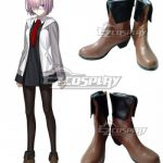COSS0943 Fate Grand Order Mash Kyrielight Shielder Brown Shoes Cosplay Boots - Fate Series