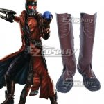 COSS0945 Marvel Guardians of the Galaxy Peter Quill Star Lord Brown Shoes Cosplay Boots - Guardians of the Galaxy