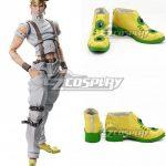 COSS1021 JoJo's Bizarre Adventure: Diamond Is Unbreakable Rohan Kishibe Yellow Shoes Cosplay Boots - JoJo's Bizarre Adventure