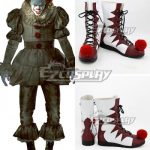 COSS1298 It 2017 Movie Pennywise Halloween Red Shoes Cosplay Boots - Halloween Promotion