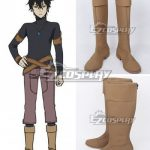 COSS1381 Black Clover Yuno Light Yellow Shoes Cosplay Boots - Black Clover