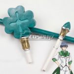 ECW1547 Cute High Earth Defense Club Love! Atsushi Kinugawa Green Staff Cosplay Weapon Prop - Cute High Earth Defense Club LOVE!