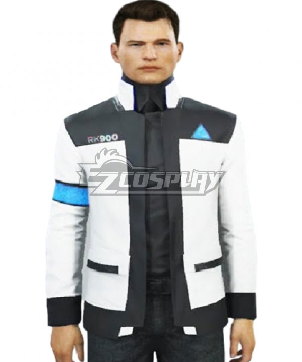 Ecm0853 Detroit Become Human Connor White Cosplay Costume Only Coat