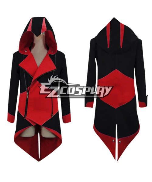 Eac0034 Assassin S Creed Iii Connor Red Black Jacekt Cosplay Costume