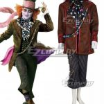 EAW0027 2016 Alice in Wonderland:Through the Looking Glass Mad Hatter Cosplay Costume - Alice in Wonderland