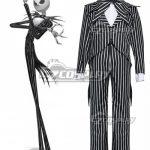 ECM0179 Nightmare Before Christmas cosplay Jack Skellington Stripe Uniform Costume Halloween Costume - Commission Outfit