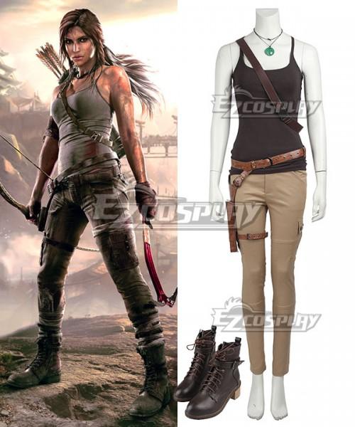 Ecm0373 Tomb Raider Season 9 Lara Croft Outfits Cosplay Costume