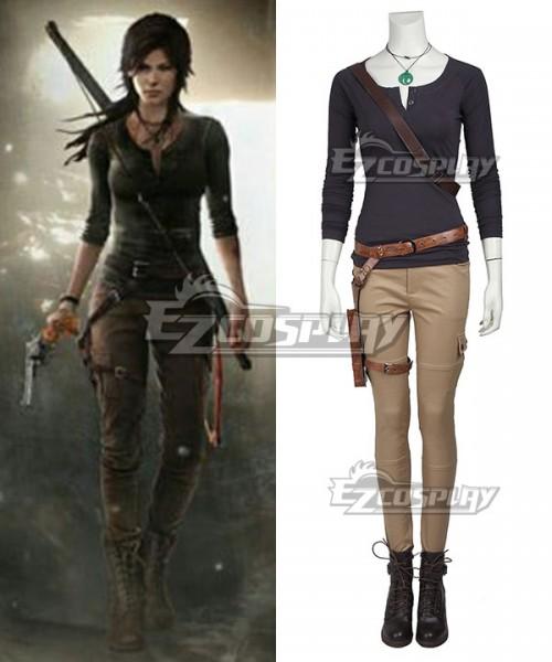 Ecm0374 Tomb Raider Season Lara Croft Outfits Cosplay Costume No