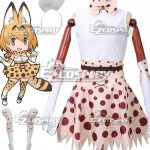 ECM0406 Kemono Friends Serval Uniform Cosplay Costume - Commission Outfit
