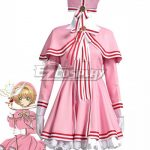 ECS0010 Cardcaptor Sakura: Clear Card Sakura Kinomoto Pink Dress Cosplay Costume - Cardcaptor Sakura: Clear Card