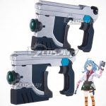 ECW1294 Gakusen Toshi Asterisk Academy Battle City Asterisk The Asterisk War The Academy City of the Water Saya Sasamiya Two Guns Cosplay Weapon Prop - Gakusen Toshi Asterisk