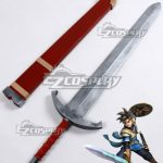 ECW1389 Dragon Quest Heros Luceus Akuto Red Sword Scabbard Cosplay Weapon Prop - Dragon Quest XI: Echoes Of An Elusive Age