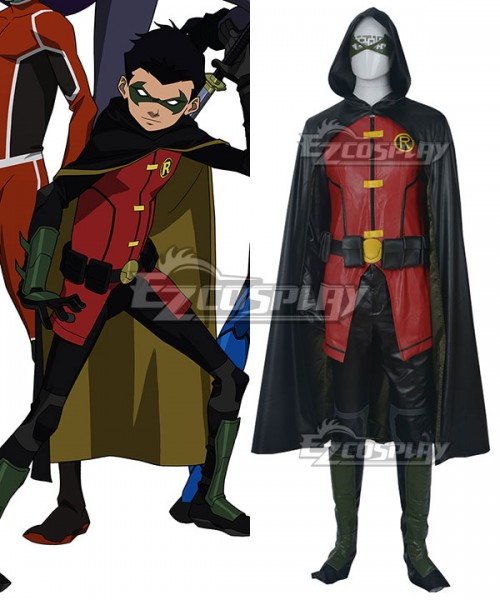 Justice League Teen Titans Costume Dick Grayson Robin Cosplay Nightwing Outfits