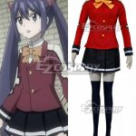 EFT0060 Fairy Tail Tenrou Island Arc Wendy Marvell Red Cosplay Costume - Fairy Tail