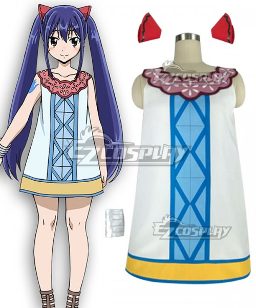 Eft0066 Fairy Tail Dragon Cry Wendy Marvell Cosplay Costume
