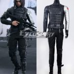 EHW0027 Marvel Avengers:2 the avengers alliance Captain America Winter Soldier Bucky Barnes Cosplay Costume Deluxe Version - Captain America