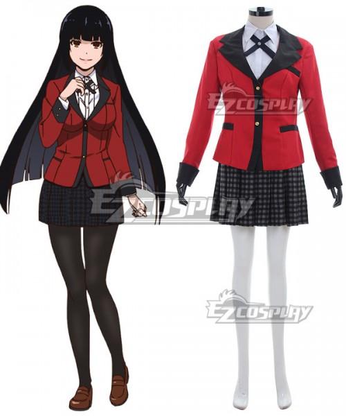 Details about  /Kakegurui Yumeko Jabami Compulsive Gambler Anime Cosplay Costume School Uniform
