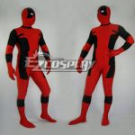EMAV008 Marvel Halloween Classic Red & Black Deadpool Spandex Deadpool Costume - Deadpool 2