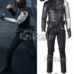 EMAV077 Marvel Captain America The Winter Soldier James Buchanan Bucky Barnes Cosplay Costume - Captain America