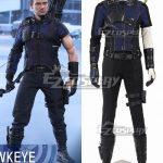 EMAV078 Marvel Captain America Civil War Hawkeye Clinton Francis Barton Blue Cosplay Costume - Captain America