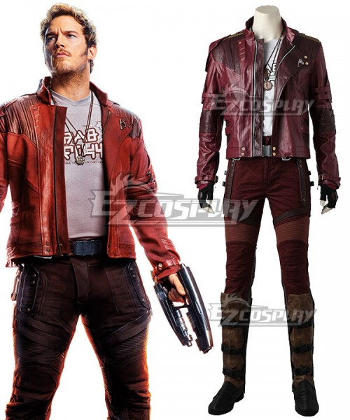 d32ccdf86 EMAV119 Marvel Avengers: Infinity War Guardians of the Galaxy Vol. 2  Star-Lord Peter Jason Quill Cosplay Costume - No Boots and Premium Edition  - ...