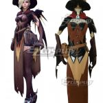 EOWG044 Overwatch OW Mercy Angela Ziegler All Saints' Day Cosplay Costume - Halloween Promotion