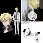 EWG0397 Aoharu x Machinegun Aoharu x Kikanjuu Masamune Matsuoka Toy ☆ Gun Gun Team Earring Golden Cosplay Wig - Aoharu x Machinegun