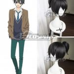 EWG1097 Anonymous Noise Fukumenkei Noise Kanade Yuzuriha Black Cosplay Wig - Anonymous Noise