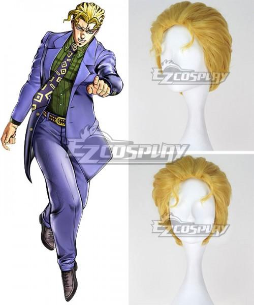 Ewg1227 Jojo S Bizarre Adventure Yoshikage Kira Golden Cosplay Wig