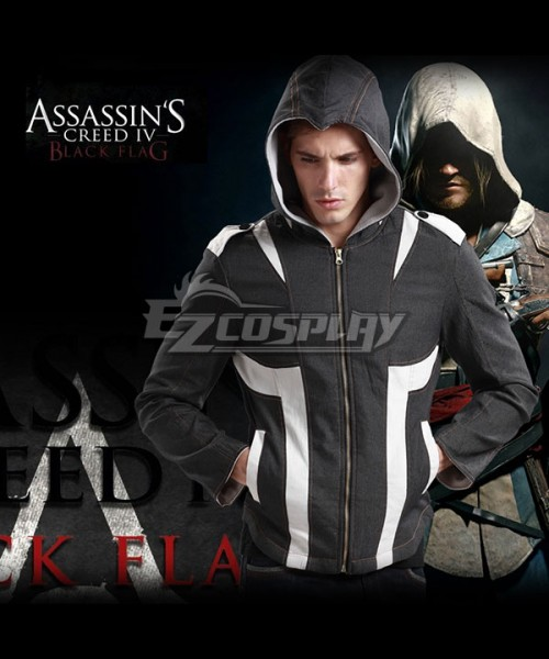 Eza0081 Assassins Creed 4 Black Flag Beak Hoodies Coat Sweatshirts