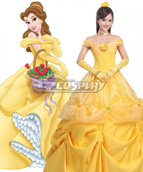Ezcp018 Disney Beauty And The Beast Belle Yellow Dress Cosplay