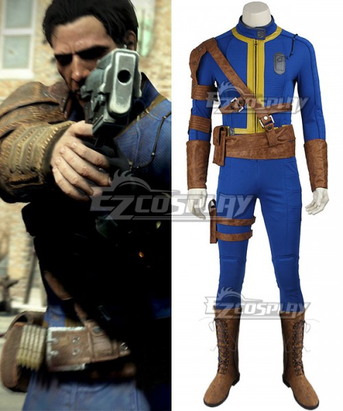 7e15d815fa4 EZF0005 Fallout 4 Sole Survivor Vault 111 Cosplay Costume - Including Boots  - Fallout