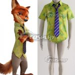 EZIA006 Disney Zootopia Nicholas P.Wilde Fox Nick Cosplay Costume - Only Shirt