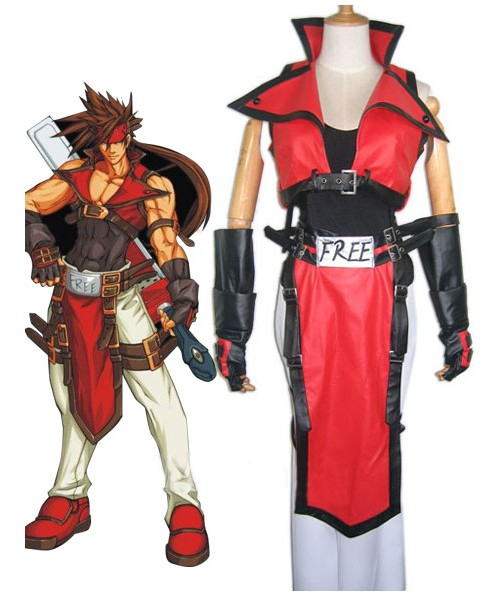 EGG0007 Guilty Gear Sol Badguy Cosplay Costume - Guilty Gear Xrd