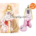 ELT0004 Chobits Chii Pink Dress Lolita Cosplay Costume - Chobits