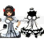 EHS0003 The Melancholy of Haruhi Suzumiya Black Dress Lolita Cosplay Costume - Haruhi Suzumiya