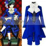 EBB0012 Black Butler Ciel Phantomhive Blue Cosplay Costume - Black Butler